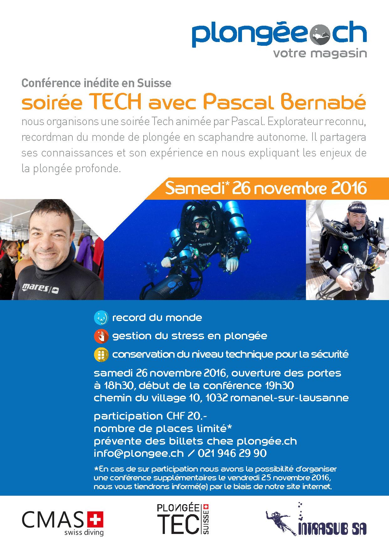 Pascal Bernabé En Suisse, Les Enjeux De La Plongée Profonde