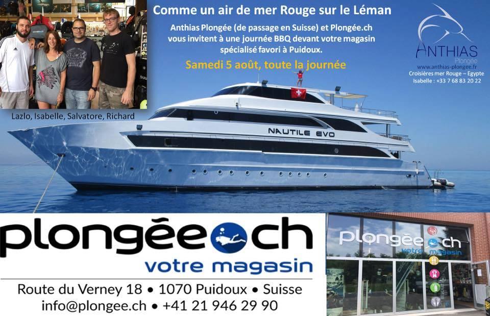 BBQ Anthias-Plongee.ch – Un Avant Goût De Mer Rouge Sur Le Léman Réussi