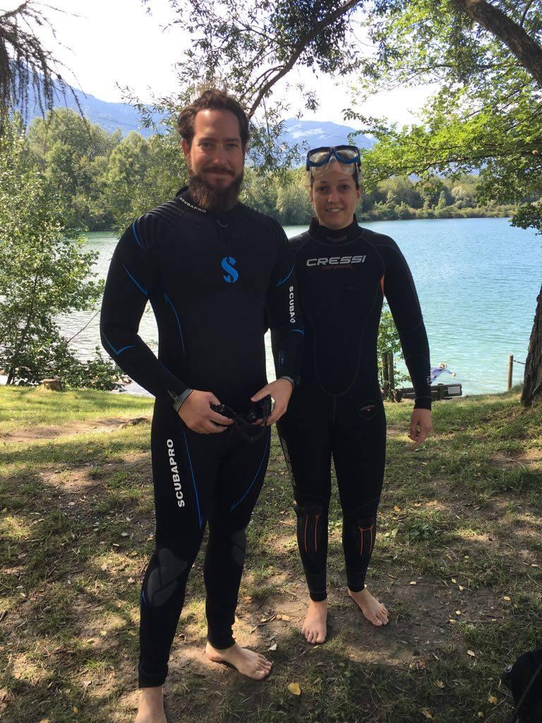 Plongeurs Baptême Duzillet Plongee.ch