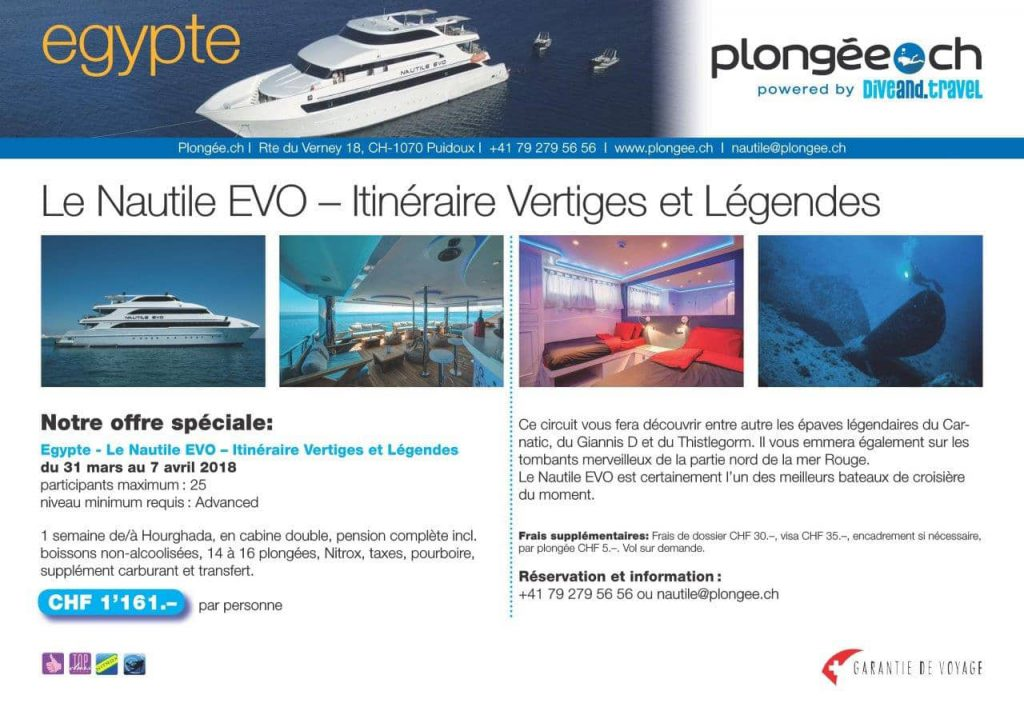 Plongee.ch Nautile EVO mer rouge