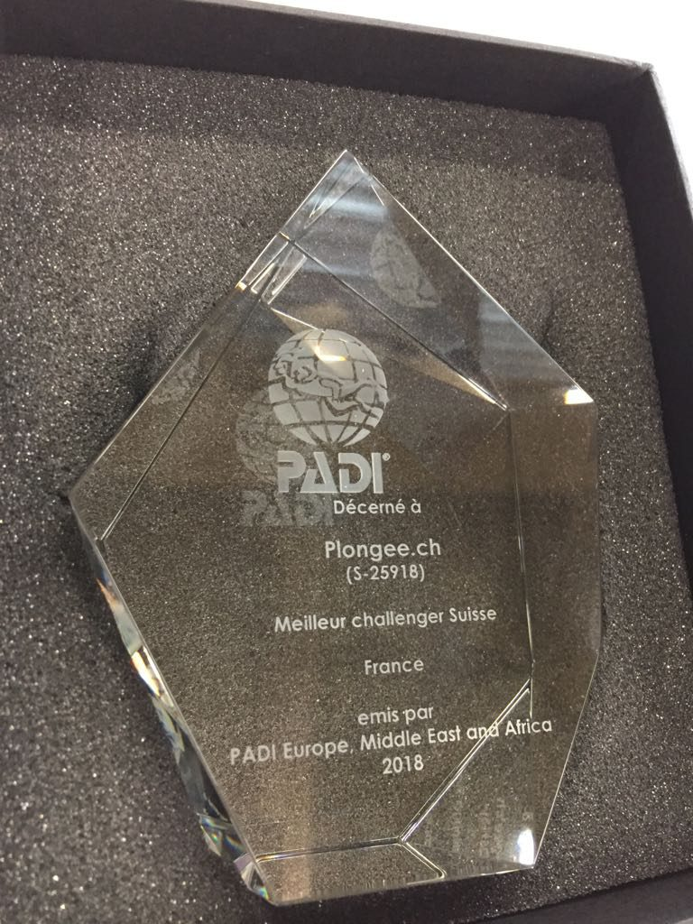 PADI challenger award