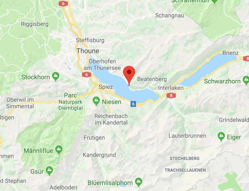 Plongée à Beatenbucht Thun plongee.ch