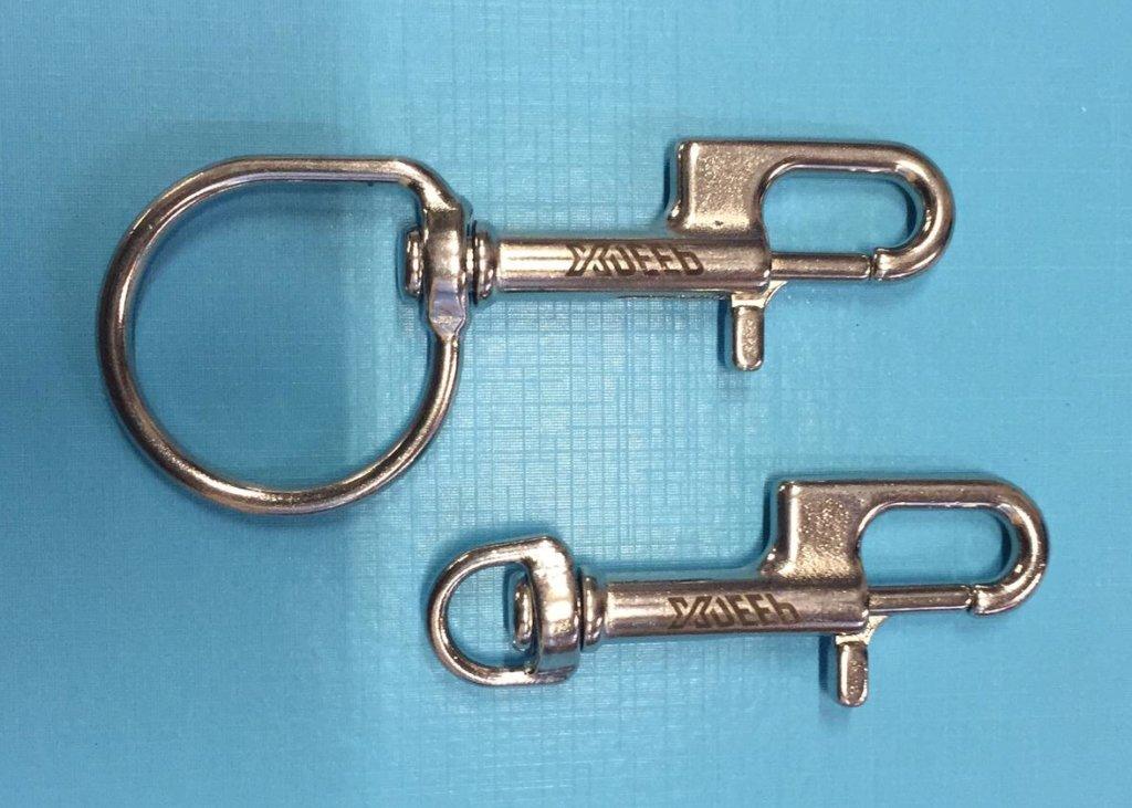 Mousquetons Xdeep bolt snap nx series inox