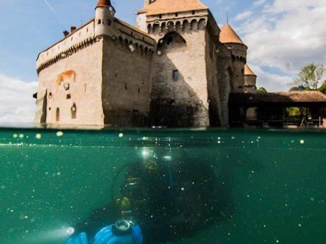 Plongée château de Chillon Gatien Cosendey