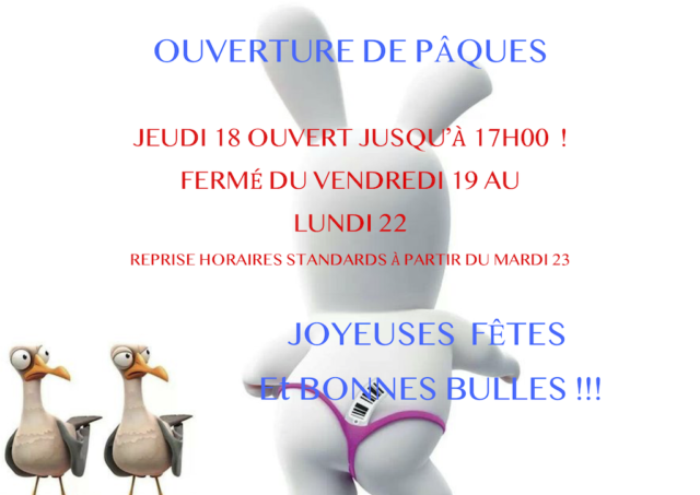 HORAIRES PAQUES 2019