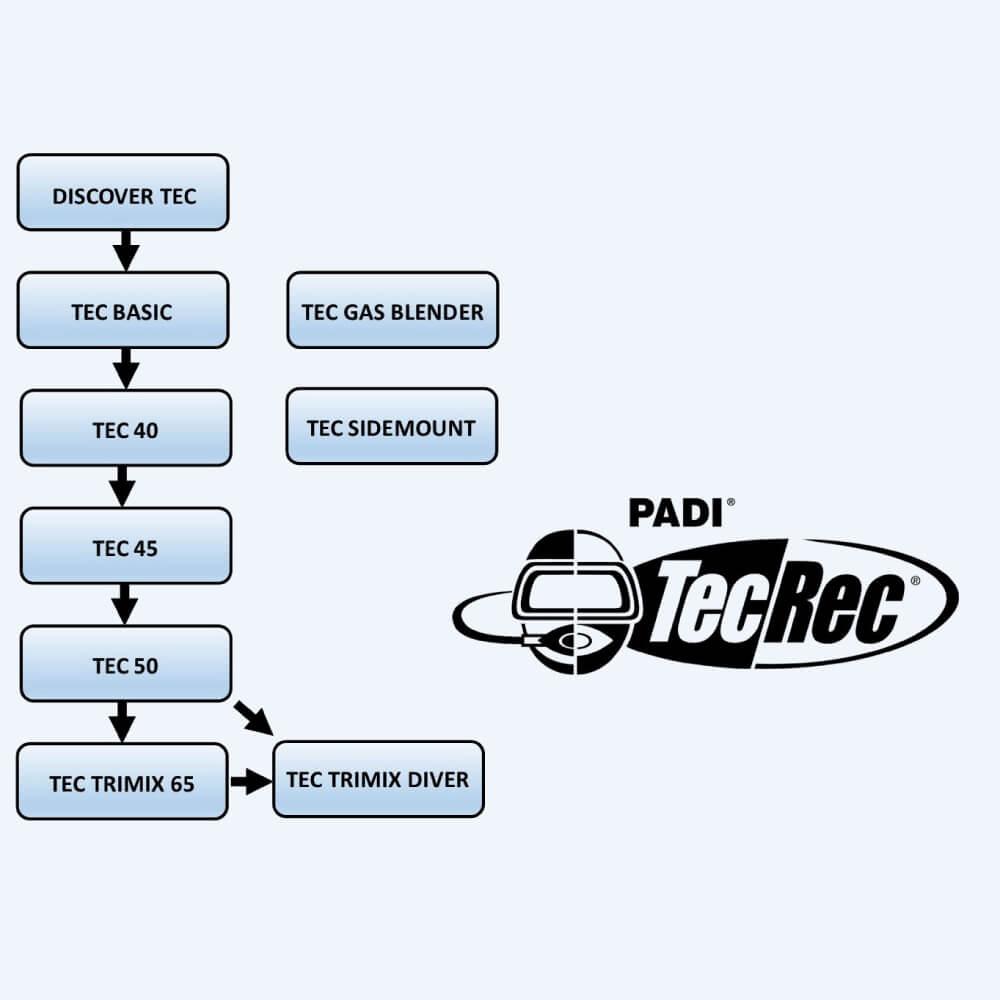Organigramme PADI Tec Rec