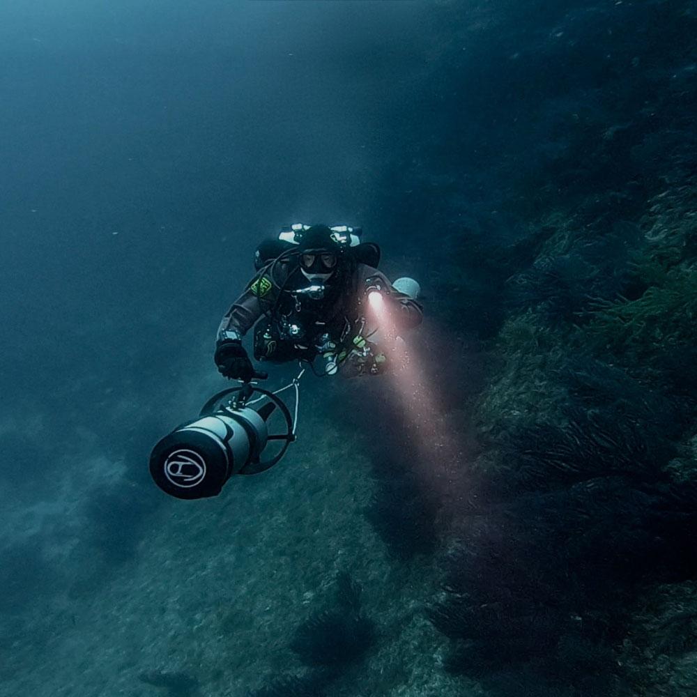 Plongée scooter