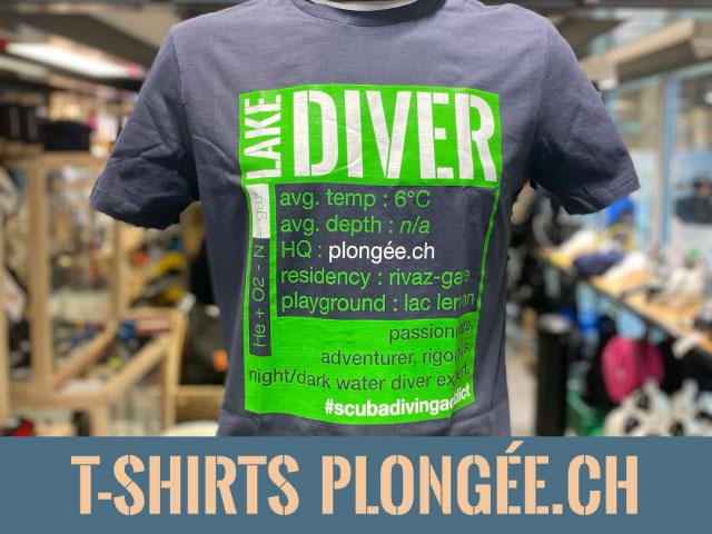 Tee Shirt Plongee.ch